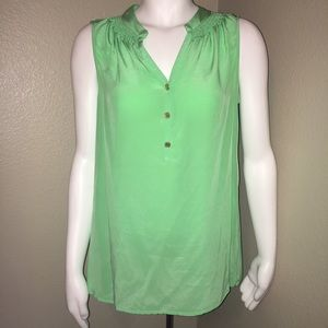 Lily Pulitzer Bailey Green Sleeveless Top